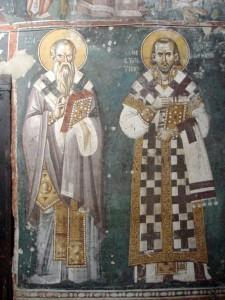 Freska Svätého Klimenta Ochridského v Chráme Matky Božej v Ochride